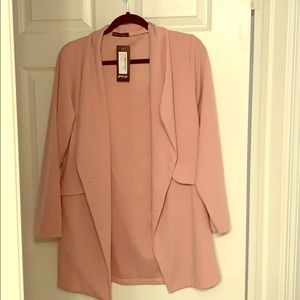 Light weight blazer in dusty rose
